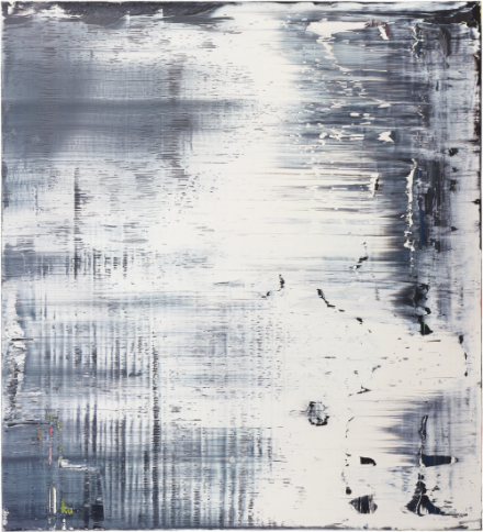 Gerhard Richter, White, (1988), via Phillips