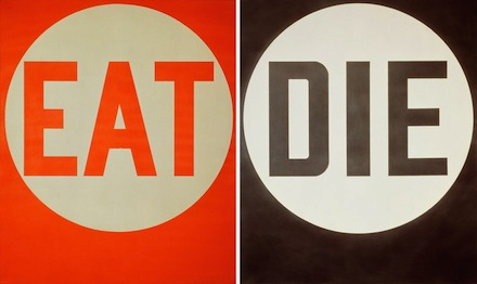 Indiana, Eat/Die (1962).  Beyond LOVE, The Whitney Museum of American Art