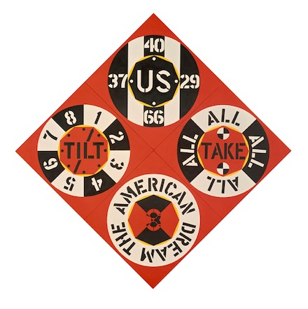Robert Indiana, The Red Diamond American Dream #3 (1962), Courtesy of The Whitney Museum of American Art