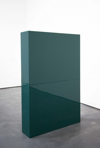 John McCracken, Green Slab in Two Parts (1966), via David Zwirner