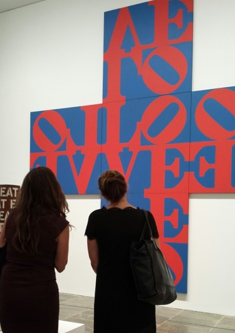 Robert Indiana, Beyond Love, Installation Shot with Love Cross (1968), Photo Courtesy of Art Observed