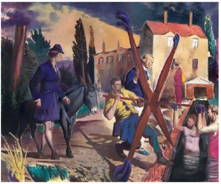 Neo Rauch, Die Müllerin, (2013), Courtesy Galerie Eigen+ART