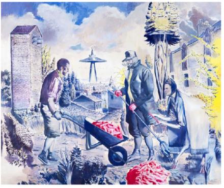 Neo Rauch, Die Fuhre (2013), via Galerie Eigen+Art