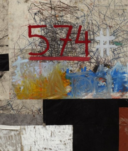 Oscar Murillo, #574 (2013), Courtesy the Artist and David Zwirner