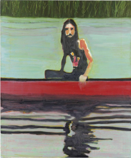 Peter Doig, Red Canoe (2000), via Christie's
