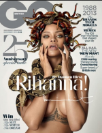 Rihanna and Damien Hirst, via GQ