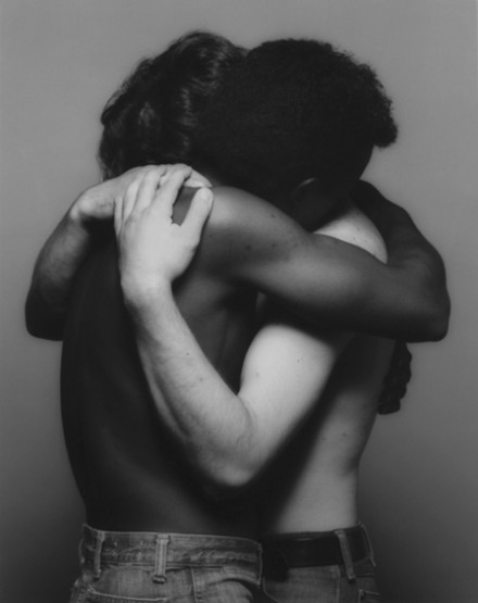 Robert Mapplethorpe, Embrace (1982), via Thaddeus Ropac