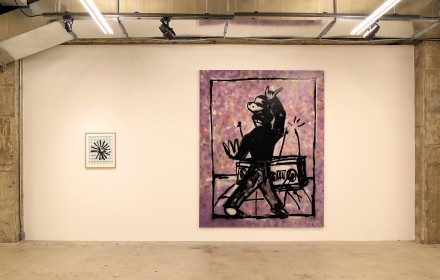 Walter Dahn, 4th Time Around (My Back Pages) (Installation View), via Venus Over Manhattan Gallery
