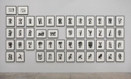 William Kentridge, Second-hand Reading (Installation View), via Marian Goodman