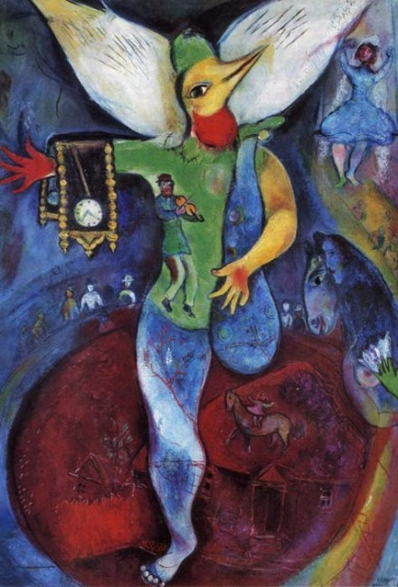 Marc Chagall, The Juggler (1943), via The Jewish Museum