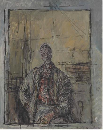 Alberto Giacometti, Diego En Chemise Écossaise (1954), Via Christie's