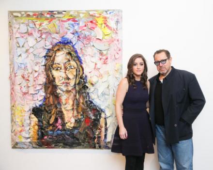 Allison Brant and Julian Schnabel at the Brant Foundation Art Study Center, via David X Prutting  BFAnyc.com