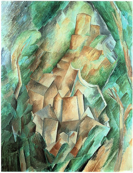 Georges Braque, Le Château de la Roche Guyon (1909), Courtesy of Grand Palais