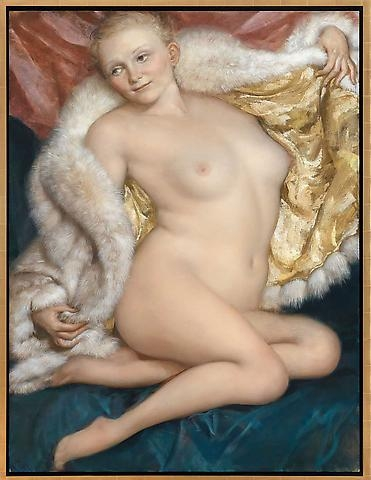 John Currin, The Old Fur (2010), Courtesy Gagosian Gallery