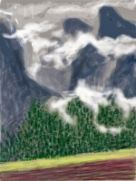 David Hockney, Yosemite II, October 5th, 2011, via Wired