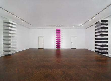 Donald Judd, Stacks (Installation View), via Mnuchin Gallery