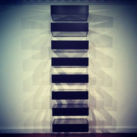 Donald Judd, Untitled (Bernstein 90-01) (1990), via Daniel Creahan for Art Observed