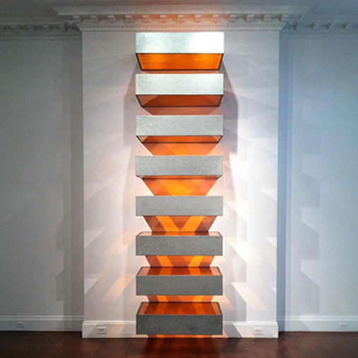 New york donald judd stacks at mnuchin gallery for Donald judd stack 1972