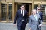 Helly Nahmad leaves court, via New York Daily News