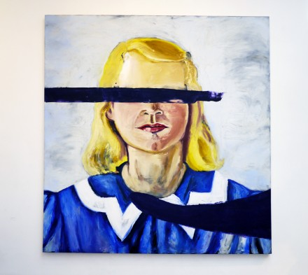 Julian Schnabel, Large Girl with No Eyes (2001), via Art Observed Staff