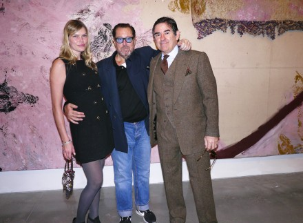 Julian Schnabel with May and Peter Brant, via Art Observed Staff