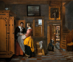 Pieter de Hooch, At the Linen Closet, via Wall Street Journal