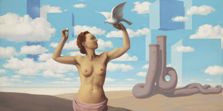 René Magritte, Le Domaine Enchanté (ii) (1953), Via Christie's