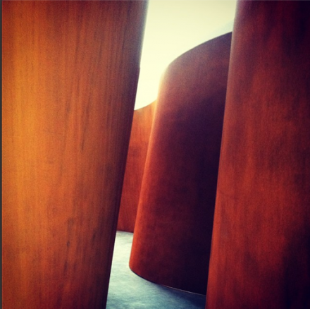 Richard Serra, Inside Out (detail) (2013), via Daniel Creahan for Art Observed