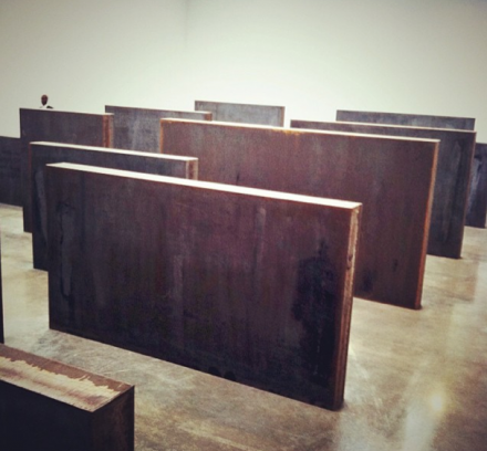 Richard Serra, Intervals (2013), via Daniel Creahan for Art Observed