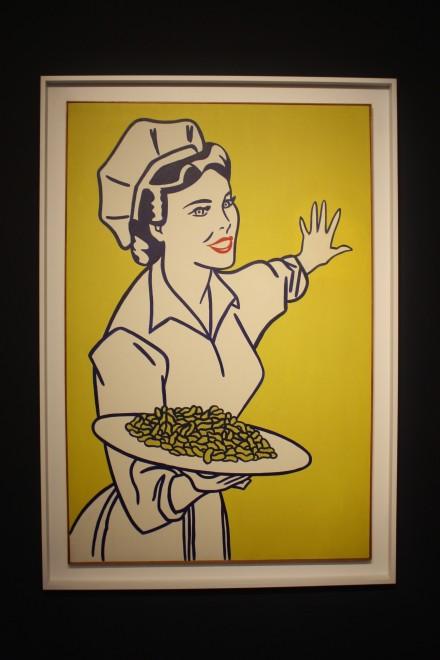 Roy Lichtenstein, Woman with Peanuts (1962), via Ben Richards for Art Observed