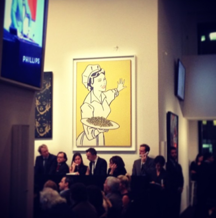 The proceedings at Phillips, via Aubrey Roemer for Art Observed