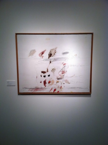 Cy Twombly at Acquavella, via Daniel Creahan for Art Observed