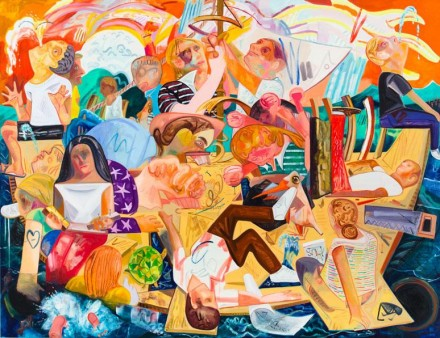 Dana Schutz, Building the Boat While Sailing, (2012) Courtesy Hepworth Wakefield Gallery