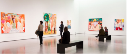 Dana Schutz (Installation View) Courtesy Hepworth Wakefield Gallery