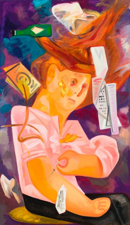 Dana Schutz, Heroin in the Wind (2012) Courtesy Hepworth Wakefield Gallery