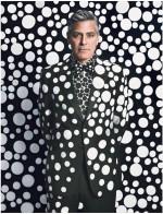 George Clooney x Yayoi Kusama, via W Magazine