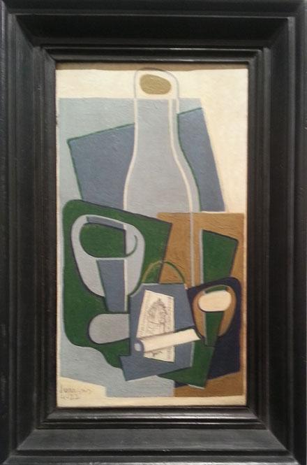 Juan Gris, Pipe et paquet de tabac, 1922, at Galeria Leandro Navarro