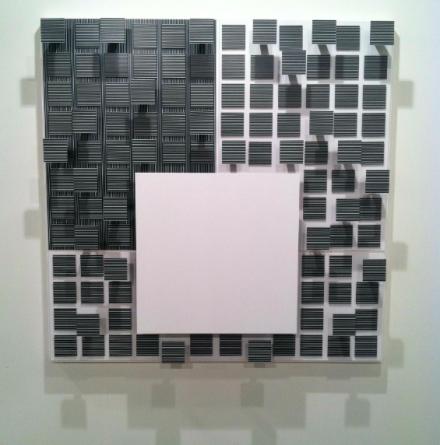 Jesus Rafael Soto at Galerie Perrotin, via Daniel Creahan for Art Observed