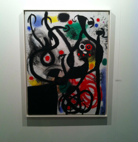 Joan Miro at Helly Nahmad Contemporary, via Daniel Creahan for Art Observed