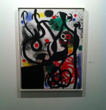 Joan Miro at Helly Nahmad Contemporary, via Daniel Creahan for Art Observed