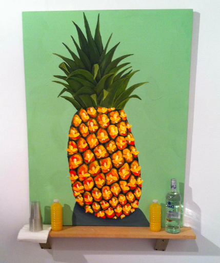 Juni Figueroa at Roberto Paradise, via Daniel Creahan for Art Observed