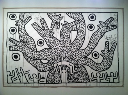 Keith Haring at Gladstone, via Daniel Creahan for Art Observed