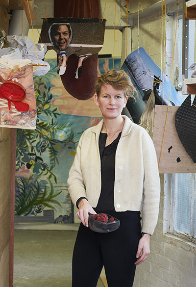 Laure Prouvost in her studio in London