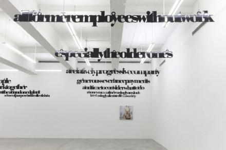 Louise Lawler and Liam Gillick (Installation View), via Casey Kaplan