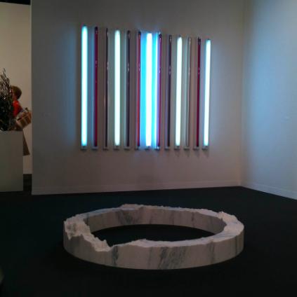 Maya Lin and Robert Irwin at Pace, via Daniel Creahan for Art Observed