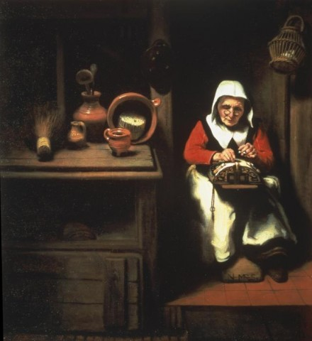 Nicolaes Maes, The Old Lacemaker (1655), Courtesy of The Frick Collection