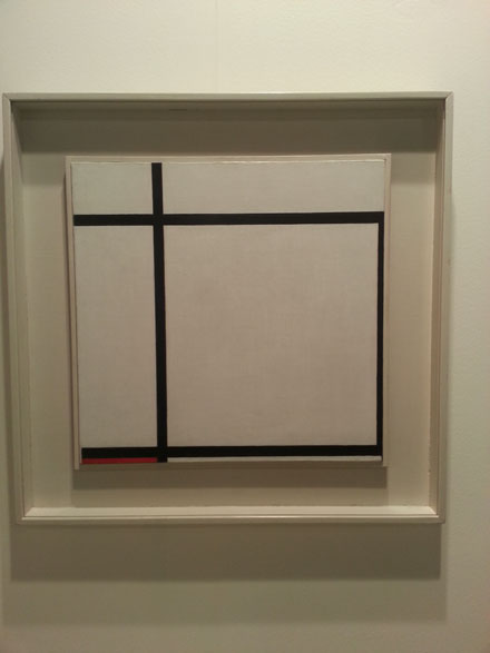 Piet Mondrian, Komposition II, with red, 1926, at Helly Nahmad Gallery