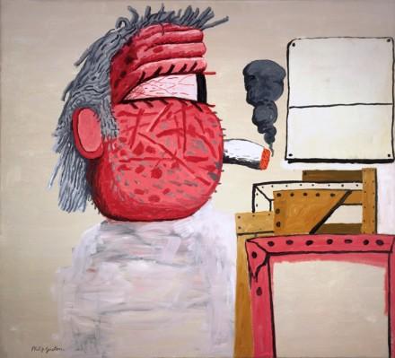 Philip Guston, Painter's Head (1975), Courtesy Schirn Kunsthalle Frankfurt