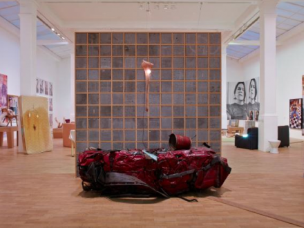 Sarah Lucas, SITUATION Absolute Beach Man Rubble ( Installation View) Whitechapel Gallery Photocredit Stephen White