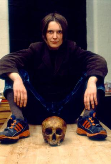Sarah Lucas, Self-portrait with skull (1996), Copyright of the artist, courtesy Sadie Coles HQ